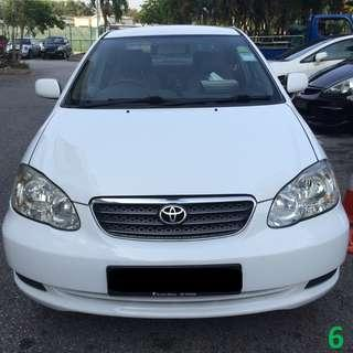 1 Week Contract Toyota Altis 2007 $380