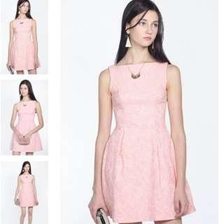 🚚 Fayth Marcia Textured Dress in Pastel Pink (Size M)