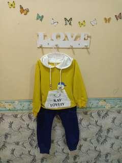 #ibuhebat Sweater yellow sweater baju anak setelan import keren dino dinosaurus green hijau kuning biru navy