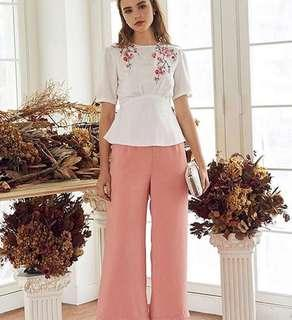VL8820 The closet lover peach pink long pants