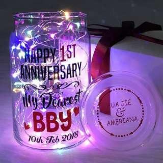 🔹Anniversary Jar Personalised Gift Couple ❤️