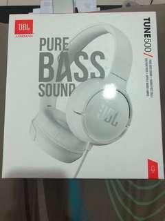 JBL Tune500 Headset (by Harman) - white color
