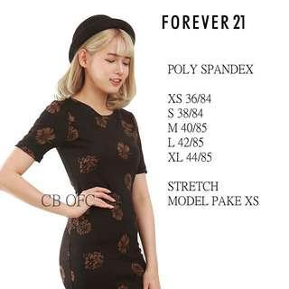 Forever 21 dress mini bodycon (original) no nego