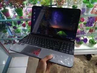 laptop toshiba l855 amd a8 hdd 640gb mulus ram 2gb normal