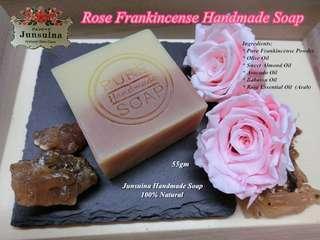 Rose Frankincense Handmade Soap