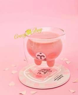 台灣卡娜赫拉的小動物雙層玻璃杯