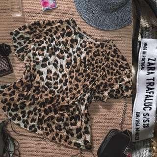 Zara animal print top