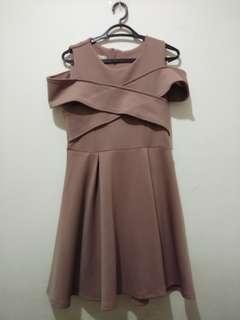 #PayDayMaret Dress Choco Scuba