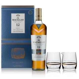 Macallan 麥卡倫12年黃金三桶單一麥芽威士忌 (禮盒裝)