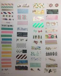 🚚 💫washi tape samples gb