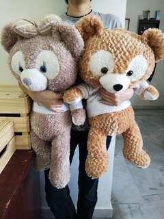 #STB50 (2 Dolls) Disney Duffy bear 2 in 1 blanket 达菲熊枕头被