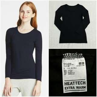 UNIQLO Heattech Extra Warm Crewneck Long Sleeve (Black L)