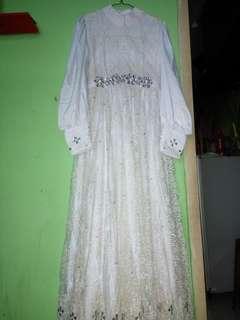 Gaun Nikah Syar'i Putih