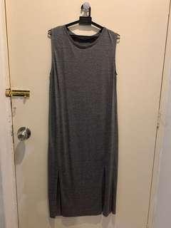 Mango midi dress with slits