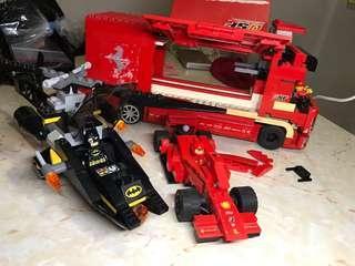 Lego蝙蝠俠直升機交一級方程式