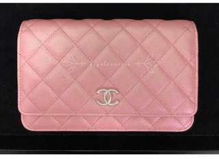 19S Chanel iridescent pink Woc