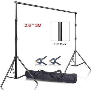 Backdrop Stand 2.6 x 3m (RENT)
