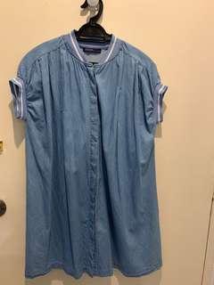 Kitschen denim button dress