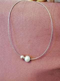 925 silver Freshwater pearl necklace 珍珠頸鏈