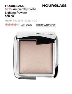 Hourglass pressed highlighter