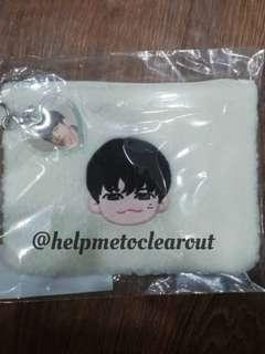 WANNA ONE OFFICIAL WINTER STORE - ONG SEONG WU KEYRING + POUCH SET