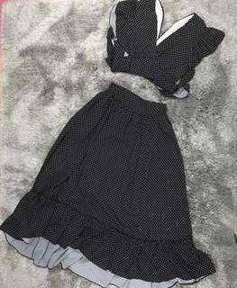 Sale!!! Marc Jacobs Ins Polka  Top & Long Skirt