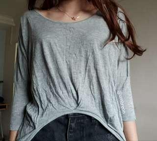 🚚 Blue exchange Grey Long Sleeve Top