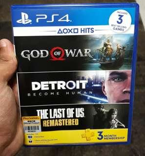 Playstation Hits (God of War & Detroit Become Human)