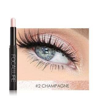 FOCALLURE 12 Colors Eyeshadow Sticker Cosmetics Eye Shadow Pencil Highlighter Shimmer Eyes Makeup Eye Shadow