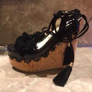 🚚 15cm流蘇綁帶械行鞋