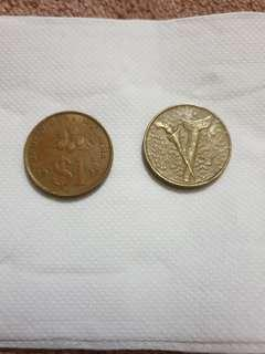 Old Coins 1992 & 1993 - 1 ringgit