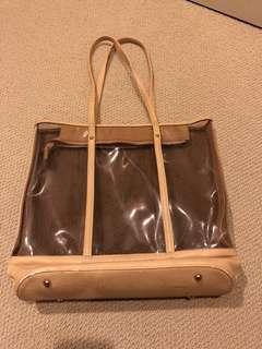 Beige See-through Bag