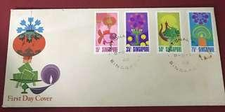 Singapore FDC as in Pictures - slight toning