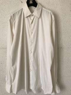 Prada white button down shirt