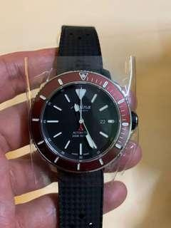 Alpina Seastrong Diver Black Dial