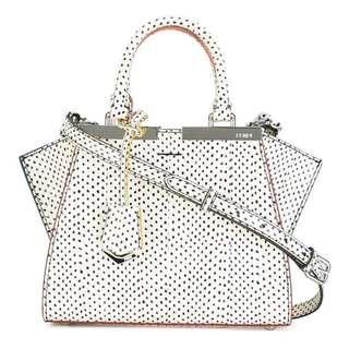 Fendi Shopping 2Jours Snake Leather Top Handle Satchel HandBag