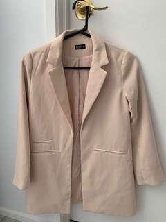 Light pale pink blazer coat size small