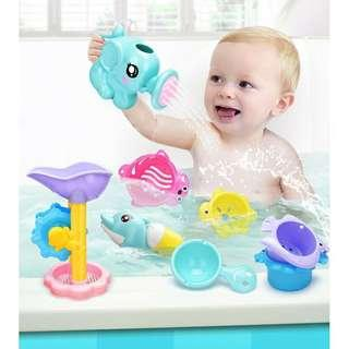 Baby Shower 9in1 Showering Toys Water Gun Shower Baby Bath Floating Toy