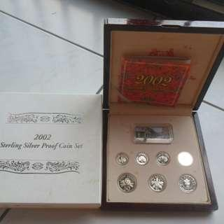 2002 Singapore Silver Proof Coin Set