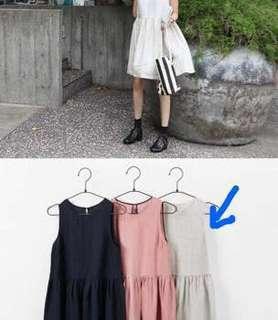 Linen Summer Loose Sleeveless Dress