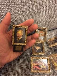 日本扭蛋 世界美術館 梵高 名畫擺設 10幅