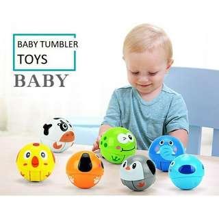 Animals Tumbler Doll Children Baby Kids Toys Scroll Ball Nodding Doll