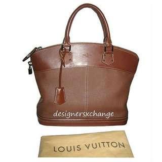 Louis Vuitton Suhali (Goat Leather) Sienne (Brown) Lock-It MM (Medium) Tote Bag (M91876)