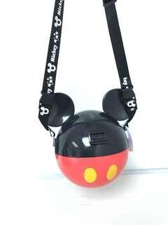 Disney Mickey Mouse 米奇老鼠頭 掛繩 儲物盒