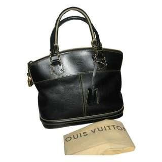 Louis Vuitton Suhali (Goat Leather) Black Lock-It PM (small) Tote Bag (M91888)