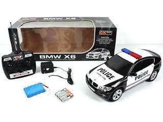 RC Police car Remote Control  w / Lights BMW X6