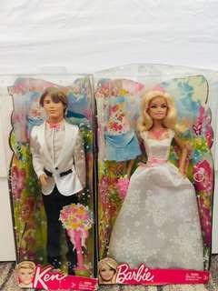 Free shipping Barbie Bride and Groom 1,500php each