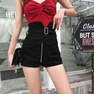 🚚 Black High Waisted Shorts (new stock)