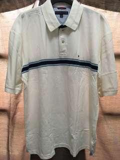 🚚 Tommy Hilfiger  短袖 白色 線條 polo衫  美式 韓版 落肩 日系