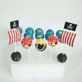 Pirate Theme Cake Pop 💀💥